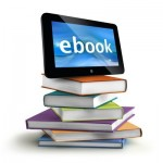 books with a tablet on top